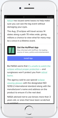 how to get instant articles on facebook