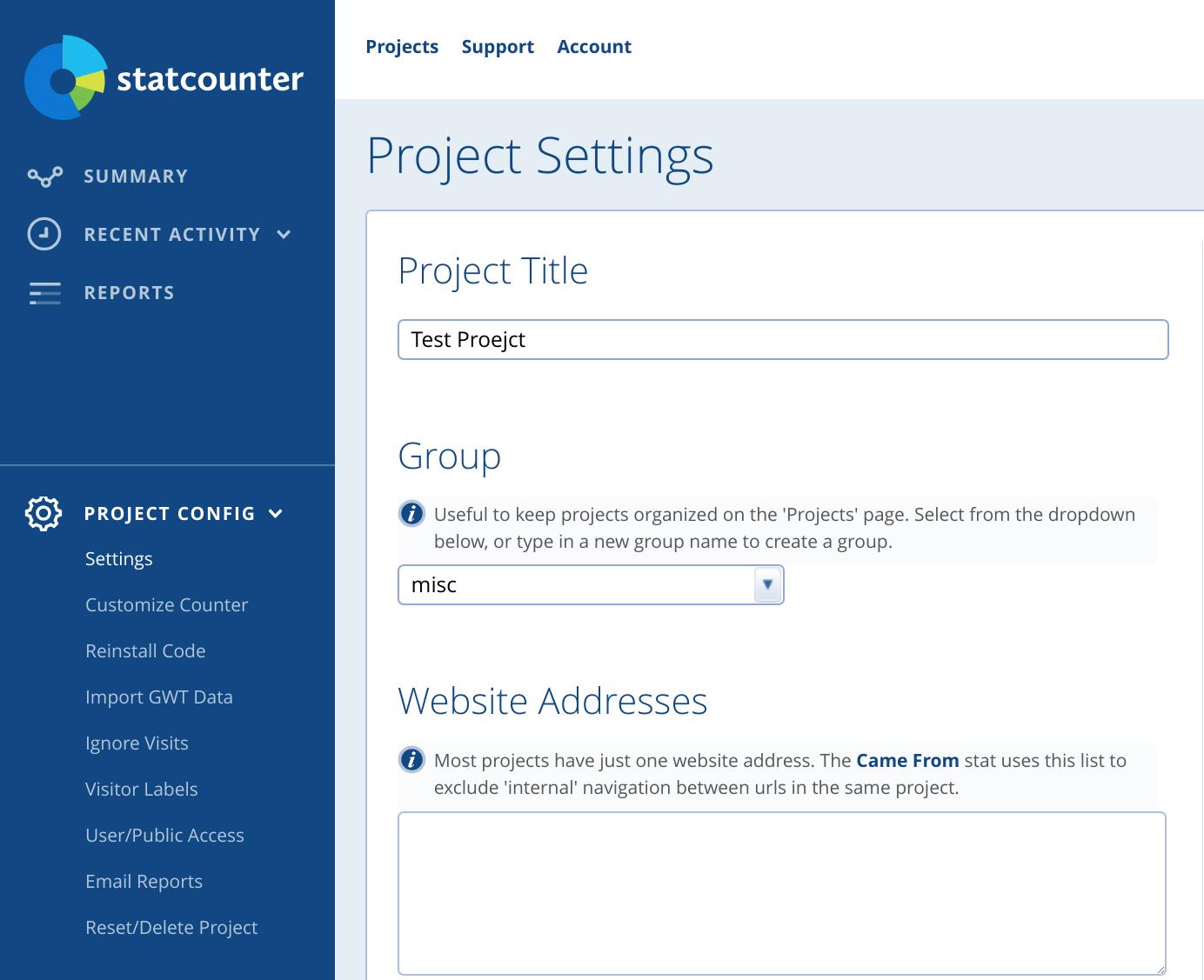 New Reports Dashboard & Simplified Navigation – Statcounter