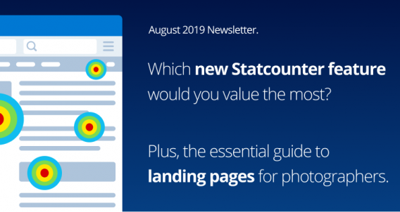 Statcounter feature survey & the essential guide to landing pages for photographers.